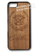 Деревянный чехол Кадиллак на телефон