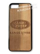 Деревянный чехол Рэнж Ровер на телефон