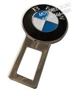 Заглушки БМВ в ремень безопасности, 2шт (3D-тип, металл), пара