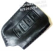Чехол для смарт ключа Лексус (4 кноп) мягкая натуральная кожа, черный