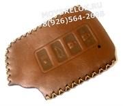 Чехол для смарт ключа Лексус (4 кноп) мягкая натуральная кожа, коричневый