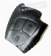 Чехол для смарт ключа Мерседес (дорестайл) мягкая натуральная кожа, черный