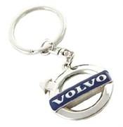 Брелок Вольво для ключей синий 35 мм