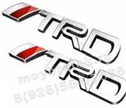 Эмблема Тойота TRD 145x23 мм багажник, хром