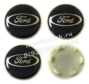 Колпачки в диск Форд 53/52 мм синие