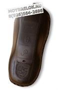 Чехол для смарт ключа Порше мягкая натуральная кожа, коричневый