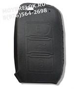 Чехол для выкидного ключа Фольксваген mk6 мягкая натуральная кожа, черный