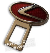 Заглушки Лексус в ремень безопасности, 2шт (3D-тип, металл), пара