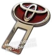 Заглушки Тойота в ремень безопасности, 2шт (3D-тип, металл), пара