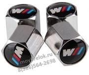 Колпачки на ниппель БМВ M performance (шестигр.-хром) комплект 4шт