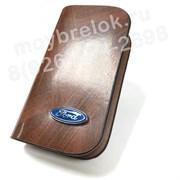 Ключница Форд коричневая на молнии