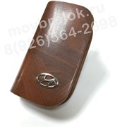 Ключница Хендэ коричневая на молнии