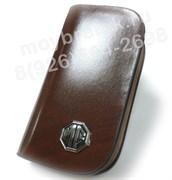 Ключница МГ коричневая на молнии