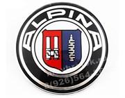 Наклейка БМВ Alpina (78 мм) на капот / багажник