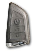 Чехол для смарт ключа БМВ X (4 кноп) мягкая натуральная кожа, черный