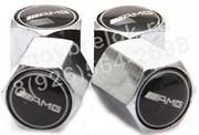 Колпачки на ниппель Мерседес AMG (шестигр.-хром) комплект 4шт