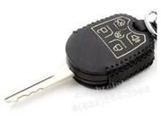 Чехол на ключ-жало Форд Explorer кожаный (ключ с жалом), черный
