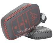 Чехол для смарт ключа Тойота Camry кожаный 4 кнопки, Камри, черный