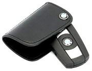 Кожаный чехол БМВ поворотный (на винте) (ключ дорестайл 2 ушка)