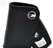 Кожаный поворотный чехол БМВ M power (ключ рестайл 1 ушко)