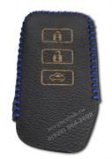Чехол для смарт ключа Лексус кожаный 3 кнопки, ES серия, синий