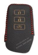 Чехол для смарт ключа Лексус кожаный 3 кнопки, ES серия, красный