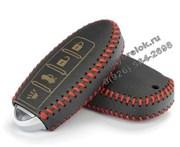 Чехол для смарт ключа Инфинити кожаный 4 кнопки, красный