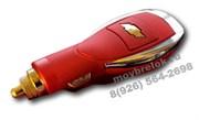 Зарядка Шевроле в прикуриватель USB, красная