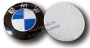 Наклейка БМВ сине-белая (66 мм), на двустороннем скотче