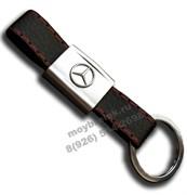 Брелок Мерседес для ключей кожаный ремешок (rm)