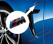 Эмблема БМВ M performance на крыло, (черная)