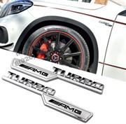 Эмблема Мерседес  Turbo AMG v3 крыло металл