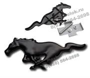 Эмблема Форд Mustang решетка радиатора (металл, черн) 15см от хвоста до носа