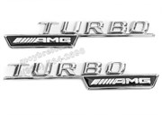Эмблема Мерседес  Turbo AMG v1 крыло металл