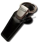 Брелок Ауди для ключей кожаный (q-type), выпуклая эмблема