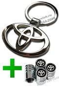 Набор Тойота : брелок + ниппеля на диски