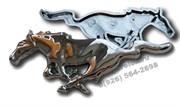 Эмблема Форд Mustang решетка радиатора (пластик)