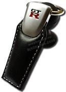 Брелок Ниссан GtR для ключей кожаный (q-type)