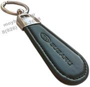 Брелок Субару для ключей овальный кожаный ремешок (lt2)