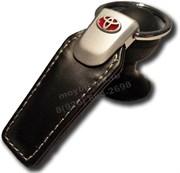 Брелок Тойота для ключей кожаный (q-type), выпуклая эмблема