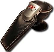 Брелок Фольксваген R для ключей кожаный (q-type), выпуклая эмблема