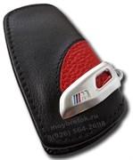 Кожаный выкидной чехол БМВ M performance кожа наппа, красный