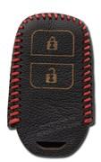 Чехол для смарт ключа Хонда кожаный 2 кнопки, черный