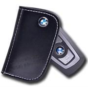 Кожаный чехол БМВ поворотный (на винте) (ключ рестайл 1 ушко)