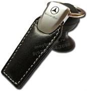 Брелок Мерседес для ключей кожаный (q-type)