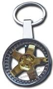 Брелок Литой диск для ключей золото