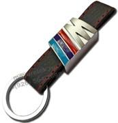 Брелок БМВ M performance для ключей кожаный ремешок (rm) 2 тип