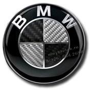 Эмблема БМВ карбон на джойстик мультимедиа (30 мм)