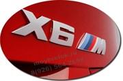 Эмблема БМВ X6m багажник (хром / черн)