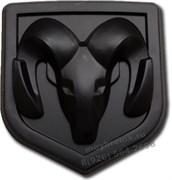 Эмблема Додж 67x62 мм (черн) капот / багажник